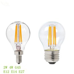 Wholesale G45 Lamp - 2200K CCT Dimmable 2W 4W G45 Filament Bulb,E12 E14 E27 Lamp Base LED Adiso Lighting Bubs n