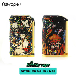 Wholesale Michael Set - Asvape Michael 200W TC Box Mod Devils Night   Walking Dead VO200 chip set Vape Mod VS Smoant Charon TS 218 218w 100% Original