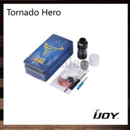 Wholesale Innovative Styles - iJoy Tornado Hero RTA Tank 5.2ml Kennedy-style Airflow Velocity Build Deck Innovative Side Flling Best Match Maxo 315W 100% Original