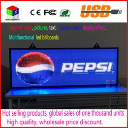 Wholesale Scrolling Led Screen - 39X14inch RGB full color LED display scrolling text LED advertising screen   programmable image video indoor LED sign billboard