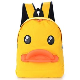 Wholesale Duck Backpacks - Canvas students' duck backpack 3D Lovely backpack canvas students bag women backpack travel school bags L01-BP-gxyzlt