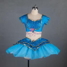 blue ballet costumes Australia - Girls Blue Sequin Spandex and Mesh Dancing Dress Ballet Dance Tutu & Blue Ballet Costumes Australia | New Featured Blue Ballet Costumes ...