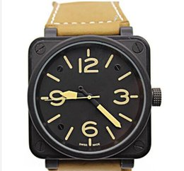 Wholesale Bells Mm - 2017 New Style Men's Automatic Mechanical Limited Edition Watch Bell Aviation Men Sport Dive Watches Black Case BR01-92 Black Rubber #3699