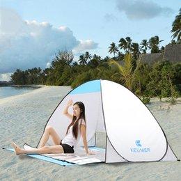 Wholesale Single Person Beach Tent - Outdoor Automatic Opening Beach Tent Shelter Ultralight Folding UV-Protective Sun Shade for Outdoor Camping Fishing Free Shipping