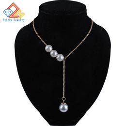 Корея новинка элегантный жемчуг кристалл жемчужное ожерелье (размер: 1,2 см) от Поставщики добавить долго