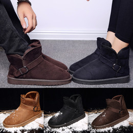 Wholesale Sexy Flat Comfortable Shoes - Unisex Winter Snow Boots sexy comfortable womens snow boots Winter warm Boots cotton-padded shoes Super cheap
