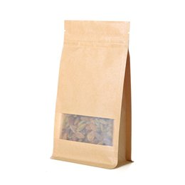 Wholesale Laminated Bag Wholesale - 8 side Food Packing laminated Kraft Paper bag standing pouch with zipper
