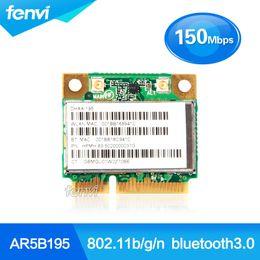 wifi atheros Скидка Оптово-Atheros AR5B195 Беспроводной Wi-Fi BlueTooth Сетевой адаптер WIFI + BT3.0 Combo Беспроводная половина Mini PCI-E Wlan Card для Dell / Acer / Asus