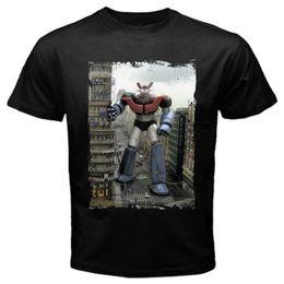 Wholesale Print Robot - Mazinger city old classic anime manga japan robot T-Shirt Black Basic Tee