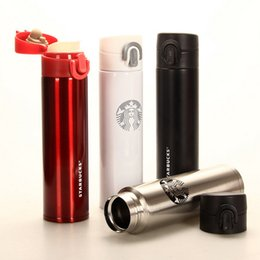 Wholesale Thermos Bottle Travel - 4 Colors Starbucks Insulation Cup Vacuum Flasks Thermos Stainless Steel Insulated Thermos Cup Coffee Mug Travel Drink Bottle