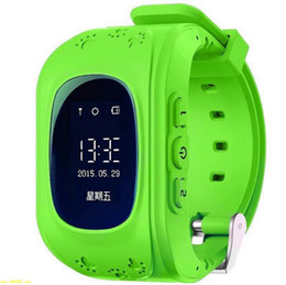 Wholesale Wholesale Watch Phone Cheap - Q50 OLED Full Screen LBS Children Smartwatch SOS Tracker Kids Anti-Lost Smart Watch Phone SIM For Android IOS Wholesale Cheap DHL Fast