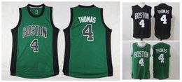 Wholesale Thomas Top - 2017 #4 Isaiah Thomas Mens Jerseys Top quality Size S-XXL Men Thomas Basketball Sport Jersey Green Black