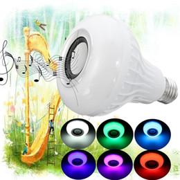 Wholesale Bulb Rgb Rc - E27 Smart LED Lamp Wireless RGB Bulb Bluetooth Lampada Speaker Lamparas RC Ampoule 85V-265V Bombillas Light Music Playing