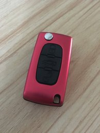 Wholesale New Housing Remote Car Key - 2PCS New Arrival Car Key Case Housing 3 Buttons Flip Remote Key Case Blank Cover With Battery Holder Fit For Peugoet 307