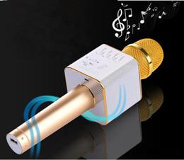 Wholesale Battery Loudspeaker Bluetooth - Q9 Wireless Microphone Bluetooth Speaker with 2600mAh Large Capacity Battery Karaoke Loudspeaker for Iphone7 plus Samsung Smartphones