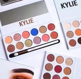 Wholesale Pen 1pcs - 2017 New Kylie The Royal Peach Palette 12 color Kylie Jenners 12color Eyeshadow palette with pen Cosmetics The new 12color eyeshadow 1pcs