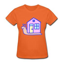 Wholesale Fashion House Clothes - Wholesale-music T shirt summer women the snail house 3D print funny cotton shirt tee womens-fashion-clothing 2XL