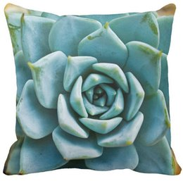 Wholesale Pillow Case Succulent Closeup Outdoor Square Sofa and Car Cushions Cover quot inch inch inch quot Pack of X