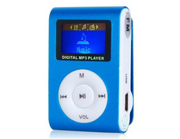 Wholesale Digital Mini Radio - Downloading Sport Digital Music Player With Screen Mini Clip Mp3 Player with Radio FM Retail Box OM-CD2