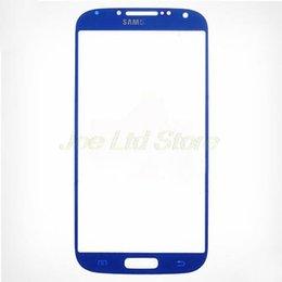 Cellulare di tocco bianco di samsung online-Cellulare Touch Panel Front Screen Cover per Samsung Galaxy S4 IV i9500 I9505 i337 M919 Lens vetro nero bianco