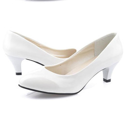 Wholesale Ladies Party Footwear - size 35-40 women high heel shoes office ladies fashion women shallow party sexy pumps fashion footwear heels shoes women casual shoes