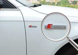 2019 etiquetas do carro de inglaterra 100 pçs / lote atacado 3D adesivos de carro emblemas emblema s linha de letras car styling para logotipo da Audi auto acessórios saco de opp