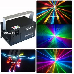 Wholesale rgb laser dmx ilda - Wholesale- laser stage laser light show equipment   laser animation equipment for christmas party laser projector with DMX+ILDA+MIC
