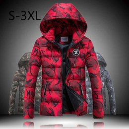 Wholesale Large Size Down Coats - Wholesale- Mens Casual Jacket Winter Parkas Thicker Outwear Down Coat Hoodies Overcoat Lovers Sweatheart Clothes Large Size Clothing 2016
