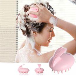 Wholesale Vibrating Head Massager - Electric Cute Rabbit Head Massager Magic Shampoo Massage Comb Bath Massage Brush Scalp Massager Head Hair Care Vibrating Brush ZA2823