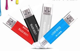 Wholesale usb stick free - 2018 FREE DHL OTG 100%% REAL 8GB 16GB 32GB USB 2.0 USB Flash Drive USB Sticks With Retail Package Free shipping Memory Pen Pendrives