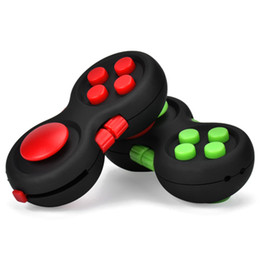 Wholesale Lanyard Plastic - Fidget Controller Pad Soft Touch Controller Game Pad Fidget Focus Toy with 8-Fidget Functions and Lanyard EDC Decompression Fidget Toys