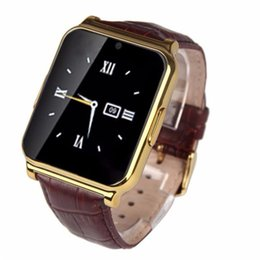Wholesale Luxury Watches For Kids - W90 Bluetooth Smart Watch Men Luxury Leather Business Smartwatch Wristwatch Knight Full View HD Screen Support TF SIM for IOS Android Phones