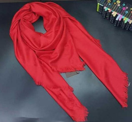 Wholesale Square Lace Scarves - Newest scarf famous brand scarves & wraps silk wool shawls square Design 140*140 Fashion Pashmina 10 colors