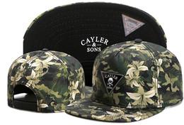 Belle vente chaude fleur Cayler Sons Snapbacks Flat Bill chapeaux Snap back casquettes de baseball chapeau casquettes noir réglable TYMY 490 ? partir de fabricateur