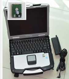 Wholesale Automotive Diagnostic Computers - car diagnostic computer toughbook cf30 CF-30 4G laptop with hard disk 500gb hdd windows7 with battery For BMW icom mb star