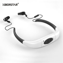 Wholesale mp3 waterproof swimming surfing - Wholesale- 2016 Version 8GB Waterproof IPX8 Sports MP3 Player Neckband FM Radio Swimming Surfing Running MP3 with Earphones Underwater