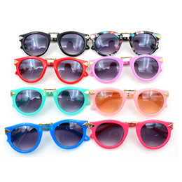 Wholesale Cool Baby Sunglasses - 10pcs lot Kids Bow Sunglasses Children's Sun Glasses Baby Sun-shading Eyeglasses Outdoor Cool UV400 Shades 2015 New Promotion