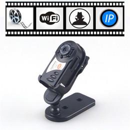 Wholesale Car Remote Camera Spy Camcorder - HD Thumb Wifi DVR Wireless IP Camera IR Night Vision Portable Car Monitor Hidden Spy Camera Detection Camcorder Video Recorder Q7