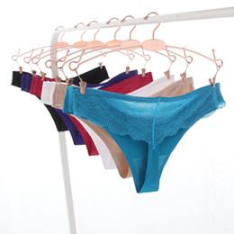 Sexy Spitze Heiße Frauen Sexy Nahtlose Unterwäsche Frauen Höschen String Slip Calcinha Dessous Tanga Tanga Für Frauen von Fabrikanten