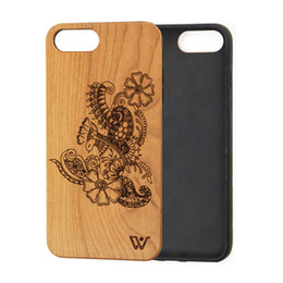Wholesale Product Samples - New Products Cherry Wood Case Free Sample Phone Cover Case Flexible TPU Frame Shockproof Wood Mobile Case for Apple iPhone 8