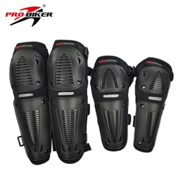 Wholesale Motorbike Protective Gear - Wholesale- PRO-BIKER Motorcycle Protector Motorbike Racing Motocross Bike Knee Elbows Pads Guards Set Protective Gear Free Shipping