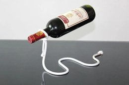 Wholesale Frames Suspension - Wine Rack Red Wine Bottle Holder Creative Suspension Rope Chain Support Frame For Red Wine Bottle 3cm Home Furnishing ornaments Free DHL