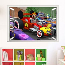 Wholesale Car Design Wall For Kids - New Cartoon Car wall stickers Home Decor Removable PVC Kids room bedroom wallpaper Party Decoration free shipping