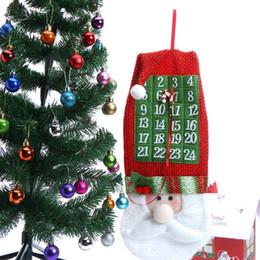 2019 calendários dos desenhos animados NEW Engraçado Dos Desenhos Animados Papai Noel Enfeites De Árvore de Natal Presentes Festival de Natal Calendário de Natal Bandeira para Decoração de Casa S2017412 calendários dos desenhos animados barato