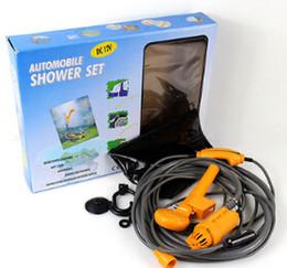 Wholesale Shower Wash - Wholesale-12 V Car Shower Outdoor Camping Shower Set Car Washing Shower