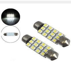 Wholesale Interior Door Lights - 100PCS 12SMD 3528 1210 Car Festoon Dome Reading Map Door Lamp Car Interior LED Light Bulbs 3021 3022