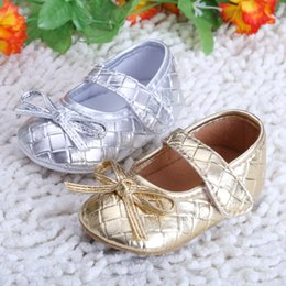 Wholesale Gold Glitter Baby Shoes - Wholesale- 2016 Glitter Baby Shoes Flash Gold Bow Soft Bottom Sneaker Anti-slip Soft Sole Toddler h2415