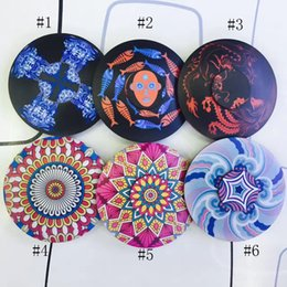 Wholesale Wholesale Kaleidoscope Toy - 2017 new Zinc alloy folk-custom kaleidoscope HandSpinner fingertips spiral fingers gyro toys 188 bearing 6 styles C2204