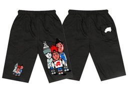 Wholesale Trukfit Shipping - RW330853V Free shipping 2017 New Pink dolphin Trukfit boys Casual fashion short Mens Elastic waist pants colorful letter style