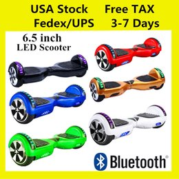 """Wholesale Warehouse Usa - IN STOCK!!! Hoverboard LED Scooters Smart Balance Wheel Bluetooth Music Speaker Electric Skateboard 2 Wheel 6.5"""" USA Warehouse Drop Shipping"""